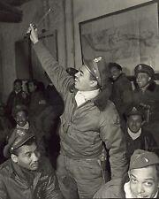 Briefing Room Tuskegee Airmen Ramitelli Italy 1945 8x10 World War II WW2 Photo