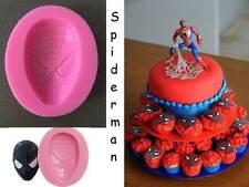 Spiderman Superhero Silicone Fondant Crayon Chocolate Soap Ice Mold Mould Party