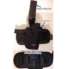 Black Right Handed Leg Holster Gun BB Airsoft Pistol Handgun Tactical Gear Clip