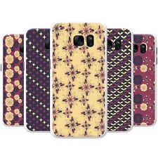 Estrella púrpura Crema Y Flor patrones de Snap-On estuche rígido cubierta teléfono para Teléfonos LG