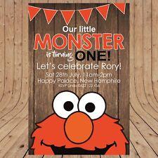 Item 2 Personalised ELMO Sesame Street Party Invitation Invites DIGITAL