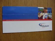 circa 2000 Reading: Official Documentation Wallet/Folder For The Madejski Staidu