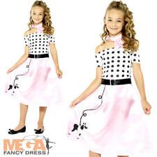 Vestido elegante niñas Caniche 50s Rock and Roll 1950 60s Niños Niños Traje De Disfraz