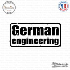 Sticker JDM German Engineering Decal Aufkleber Pegatinas D-403 Couleurs au choix