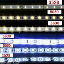 5M SMD 5050/3528/5630 300/600LEDs Cool & Warm White Waterproof LED Strip Lights