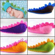 Dinosaur Newborn Baby Crochet Knit Costume Photo Photography Prop Hats Outfits