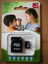 Memory card micro sd 32GB/64GB CLASSE 10 CON ADATTATORE SD