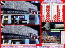 TENDA NATALE PROLUNGABILE 288 IP44 LED BIANCHI Cm.250Hx150L Alta SICUREZZA 24V