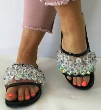 06e24c441d2 Cape Robbin Moira-63 Black Crystal Embellished Chandelier Slides Mule Sandal