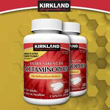 Kirkland Signature Extra Strength Acetaminophen, 500 mg., 500 Or 1,000 Caplets