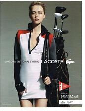 PUBLICITE ADVERTISIG  2012 LACOSTE  vetements de sport GOLF DE CHANTACO 7 10.12