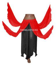 TMS Red / Black 8 Petal Skirt Belly Dance Panel 25Color