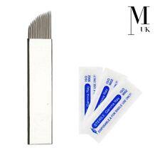 Microblades Microblading Needles Premium Blades for SPMU Tattoo Steel CF F - UK
