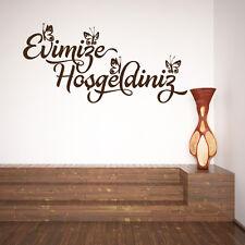 Wandtattoo Islam Türkisch Güzel sözler Islamische Evimize Hosgeldiniz A501