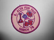"""Vintage 70s Girl Scouts S. Altn Allentown Fun Fair March 78 Patch 3"""""""