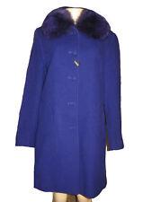 1 Madison women's winter fox fur cashmere & Wool blend jacket coat size12 M new