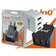 CARGADOR RÁPIDO DE 3 PUERTOS USB DE 3.1A/15W 110-240V AC QUICK TRAVEL CHARGER