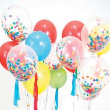 Multi Colour Confetti Filled Clear Balloon Birthday Wedding CHRISTMAS Decoration
