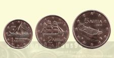 1 , 2 , 5 euro cent GRIECHENLAND unc - Prägejahr wählbar ! - 2002 bis 2016 - NEU