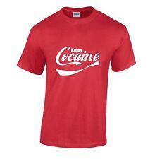Cocaine Enjoy T SHIRT Red, Black or White Funny Coca Cola SHIRT (S 2XL)