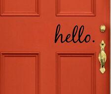 Hello - Wall Vinyl Decal Sticker Family Kids Room Door Lettering Welcome Home