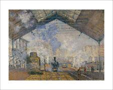 Monet - La Gare St Lazare Paris - fine art giclee print poster - various sizes