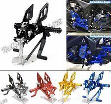 CNC Adjustable Rearsets Footrest Footpeg Pedal For YAMAHA YZF R25 R3 MT-25 MT-03