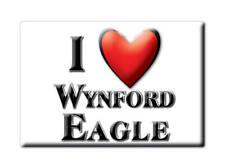 SOUVENIR UK - ENGLAND MAGNET UNITED KINGDOM I LOVE WYNFORD EAGLE (DORSET)