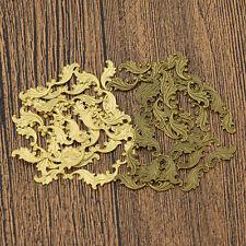 Raw Brass Leaf Floral Stamping Embellishments Scrapbooking DIY Craft Home Decor