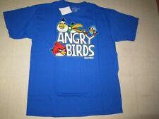 Angry Birds T-Shirt For Boys Blue/Black/Green Sz XL  -  NWT