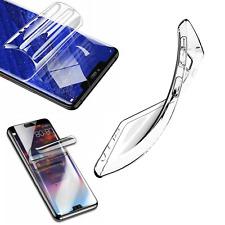 Schutzhülle Silikon Case Etui Tasche Cover + Hydrogel Schutzfolie ver. Handy