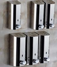 Bathroom Shower Soap Dispenser Shampoo Liquid Wall Holder Chrome Stainless Steel