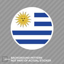 Round Uruguayan Flag Sticker Decal Vinyl Uruguay URY UY