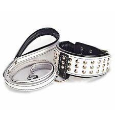 Bestia Star Set- Halsband & Leine. Handarbeit. 6,5 cm breit. Made in Europa!
