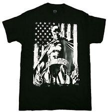 Official DC Comics Batman Flag Americana Adult T-Shirt