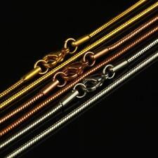Collar Serpiente 1,5mm bañado en oro 750 18 quilates Rosa Amarillo Plata k2736