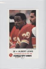 1986 Frito Lay Kansas City Chiefs Police #8 Albert Lewis Rookie Football Card