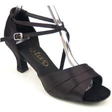 "165930 Black 2.2"" Very Fine Quality Ballroom Latin Salsa Dance Shoes (sz 4.5-10)"