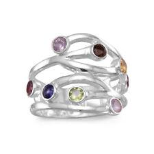Multistone Amethyst, Garnet, Iolite, Citrine, Peridot Sterling Ring