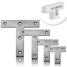 T-Plaque Acier Perforée Réparation Connecteur Clou Meubles d'angle Renfort Mat