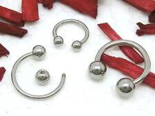 Circular Barbell mit Kugel silberfarben Augenbraue Lippen Nase Piercing Hufeisen