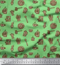 Soimoi Fabric Kettle & Coffee Machine Clip Art Print Fabric by the Yard-CA-503A