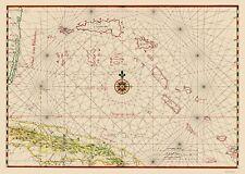 Old Caribbean Map - Cuba and Bahamas - Vinckeboons 1650 - 23 x 32.34