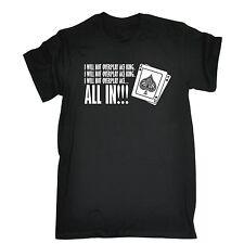 Da Uomo io non esageriamo ASSO, Re tutti in BARZELLETTA DIVERTENTE POKER T-Shirt Compleanno