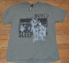 Apt 9  Graphic Tee  Short Sleeve T-Shirt Crew Neck Never Sleep NYC