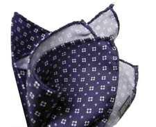 POCHETTE UOMO fazzoletto da portare nel taschino della giacca blu azzurro bianco