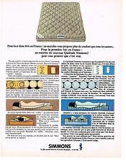 PUBLICITE ADVERTISING   1966    SIMMONS  matelas