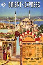 1 891 Parigi a Costantinopoli ISTANBUL ORIENT EXPRESS Ferrovia POSTER A3 stampa