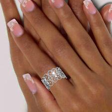 Breiter Damen Ring 925 echt Silber Zirkoniasteine Kugelring filigran Gr. 50-60