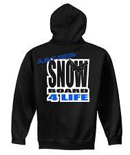 YOUTH SNOWBOARD 4 LIFE HOODIE SWEAT SHIRT JUST RIDE CHILD BURTON DC ATOMIC FLOW